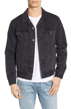 Men's Levi's Denim Trucker Jacket, Size XX-Large - Black