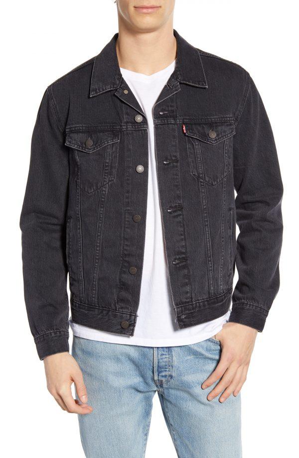 Men's Levi's Denim Trucker Jacket, Size XX-Large - Black