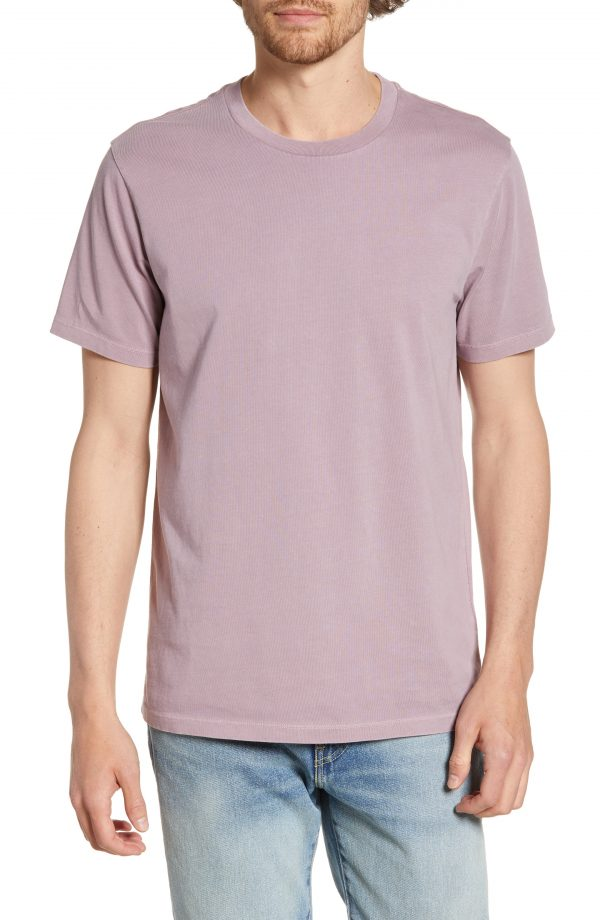 Men's Madewell Allday Slim Fit Garment Dyed T-Shirt, Size XX-Large - Purple