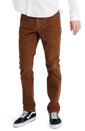 Men's Madewell Corduroy Slim Jeans, Size 33 x 32 - Brown