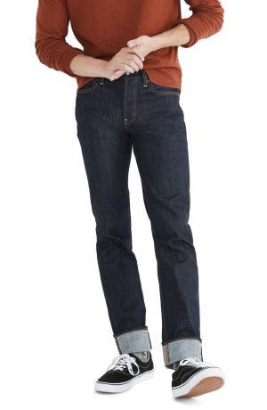 Men's Madewell Rigid Slim Jeans, Size 30 x 32 - Blue