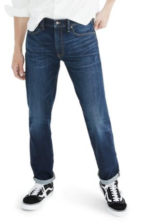 Men's Madewell Selvedge Straight Jeans, Size 30 x 32 - Blue