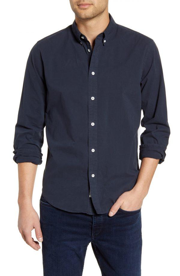 Men's Rag & Bone Fit 2 Tomlin Slim Fit Button-Down Shirt, Size Small - Blue