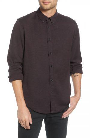 Men's Rag & Bone Fit 2 Tomlin Slim Fit Jaspe Button-Down Shirt, Size Small - Ivory