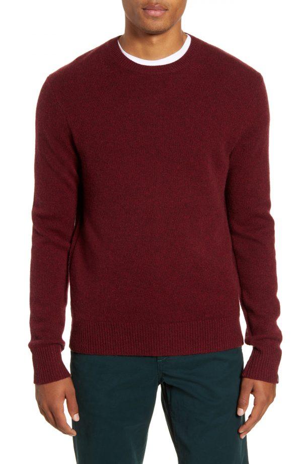 Men's Rag & Bone Haldon Crewneck Cashmere Sweater, Size Small - Red