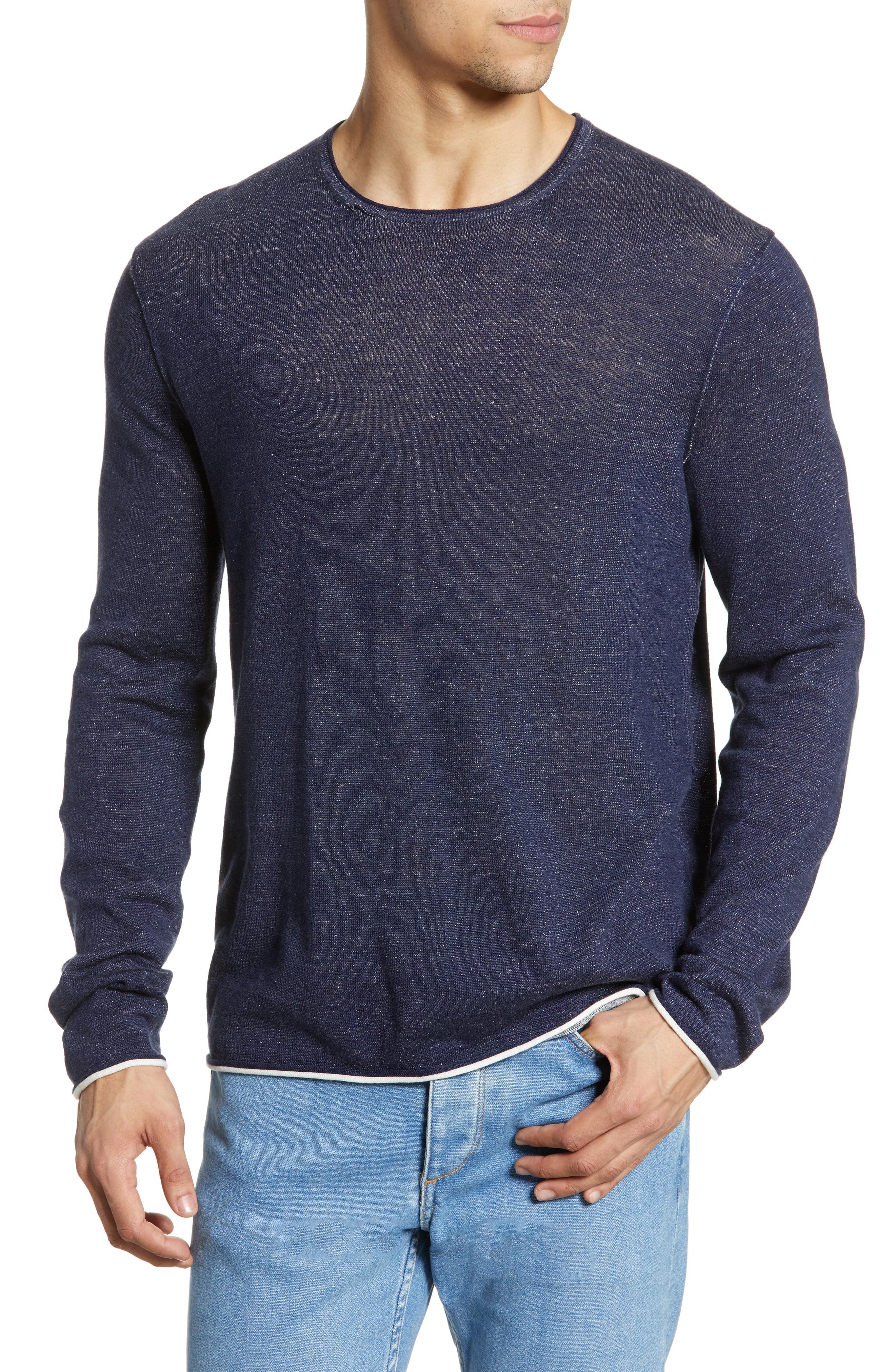 Men's Rag & Bone Trent Crewneck Sweater, Size Medium - Blue