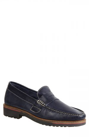 Men's Sandro Moscoloni Roland Penny Loafer, Size 10 D - Blue