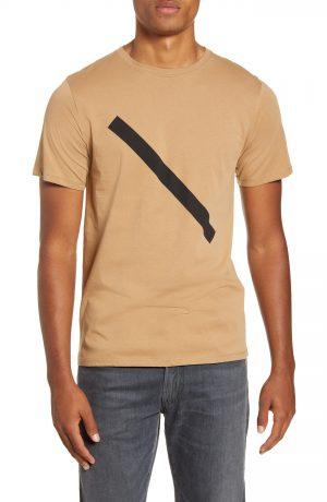Men's Saturdays Nyc Slash Graphic T-Shirt, Size Small - Beige