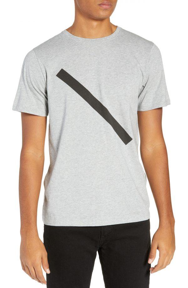 Men's Saturdays Nyc Slash Graphic T-Shirt, Size Small - Grey