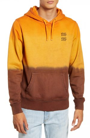 Men's Saturdays Nyc Tower Exclusive Hooded Sweatshirt, Size Medium - Brown