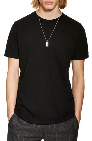 Men's Topman 5-Pack Classic Fit T-Shirts, Size Small - Black