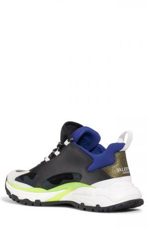 Men's Valentino Trekking Sneaker, Size 8US / 41EU - Black