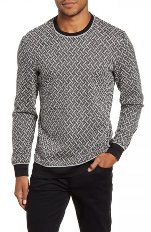 Men's Vince Camuto Slim Fit Performance Crewneck Sweater, Size Small - White