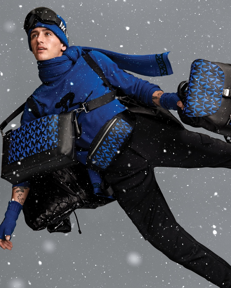 Austin Augie reunites with Michael by Michael Kors to appear in its holiday 2019 campaign.