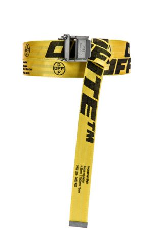 OFF-WHITE 2.0 Industrial Belt in Yellow