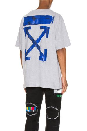 OFF-WHITE Acrylic Arrows Tee in Gray