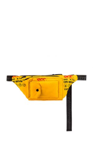 OFF-WHITE Industrial Fanny Pack in Yellow