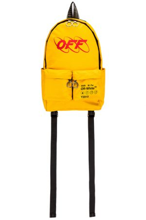 OFF-WHITE Industrial Y013 Backpack in Yellow