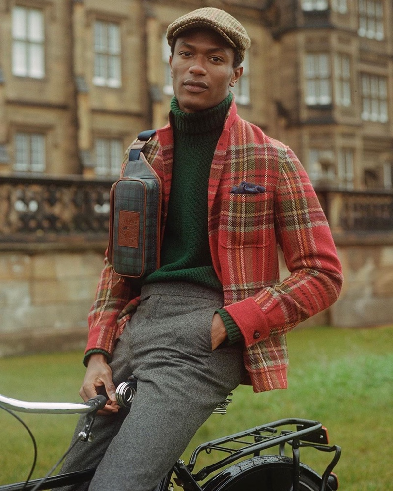 Reuniting with POLO Ralph Lauren for fall-winter 2019, Hamid Onifade makes a stylish case for tartan.