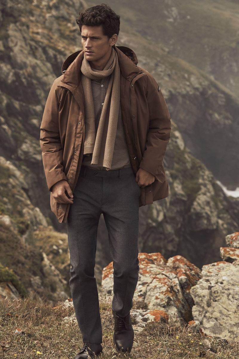 Garrett Neff stars in Pedro del Hierro's winter 2019 campaign.