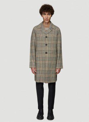 Prada Check Coat in Green size IT - 50