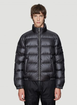 Prada Quilted Bomber Jacket in Black size IT - 48