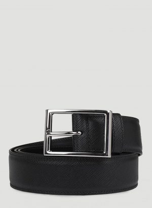 Prada Saffiano Belt in Black size 95