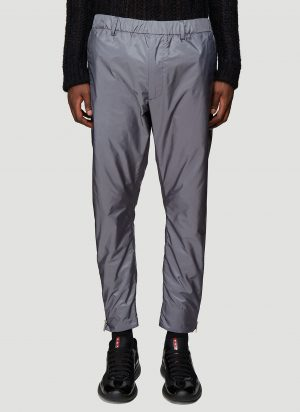 Prada Side-Zip Nylon Pants in Grey size XL