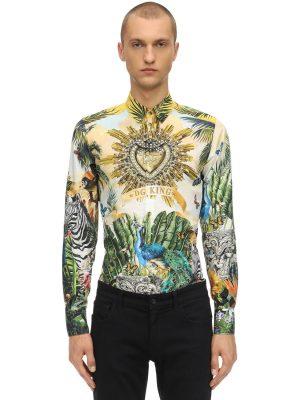 Printed Cotton Poplin Shirt