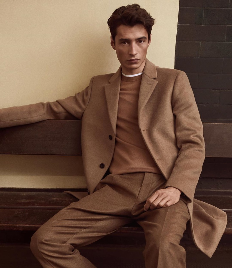 Adrien Sahores fronts Reiss' fall-winter 2019 campaign.
