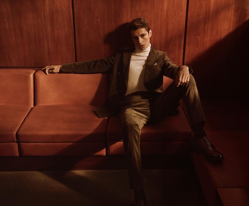 Reiss enlists Adrien Sahores as the star of its fall-winter 2019 campaign.