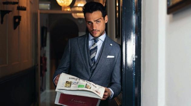 Richard Deiss Dons Smart Menswear for Gentlemen's Watch