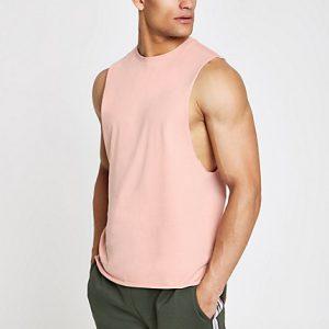 River Island Mens Pink tank vest