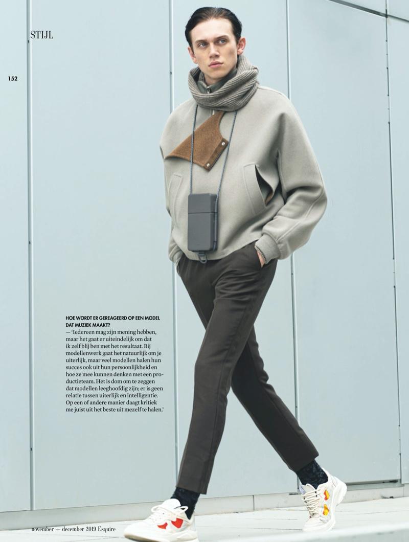 Ruben Pol Inspires in Modern Menswear for Esquire Netherlands