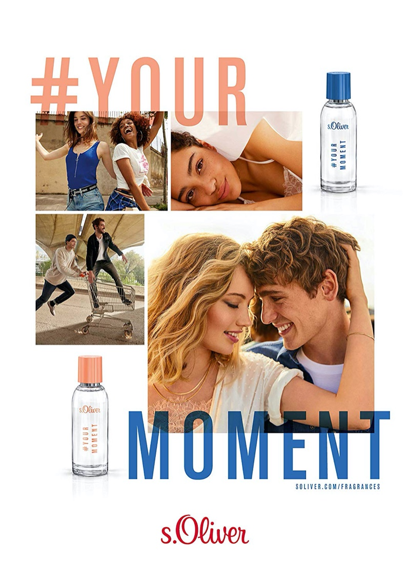 British model Tom Webb and others front s.Oliver's Your Moment fragrance campaign.