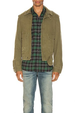 Saint Laurent Aviator Jacket in Green