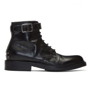 Saint Laurent Black Army Laced Boots