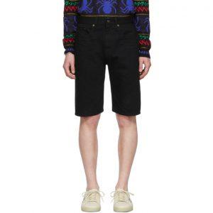 Saint Laurent Black Denim Bermuda Shorts