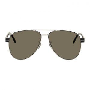Saint Laurent Silver M53 Sunglasses