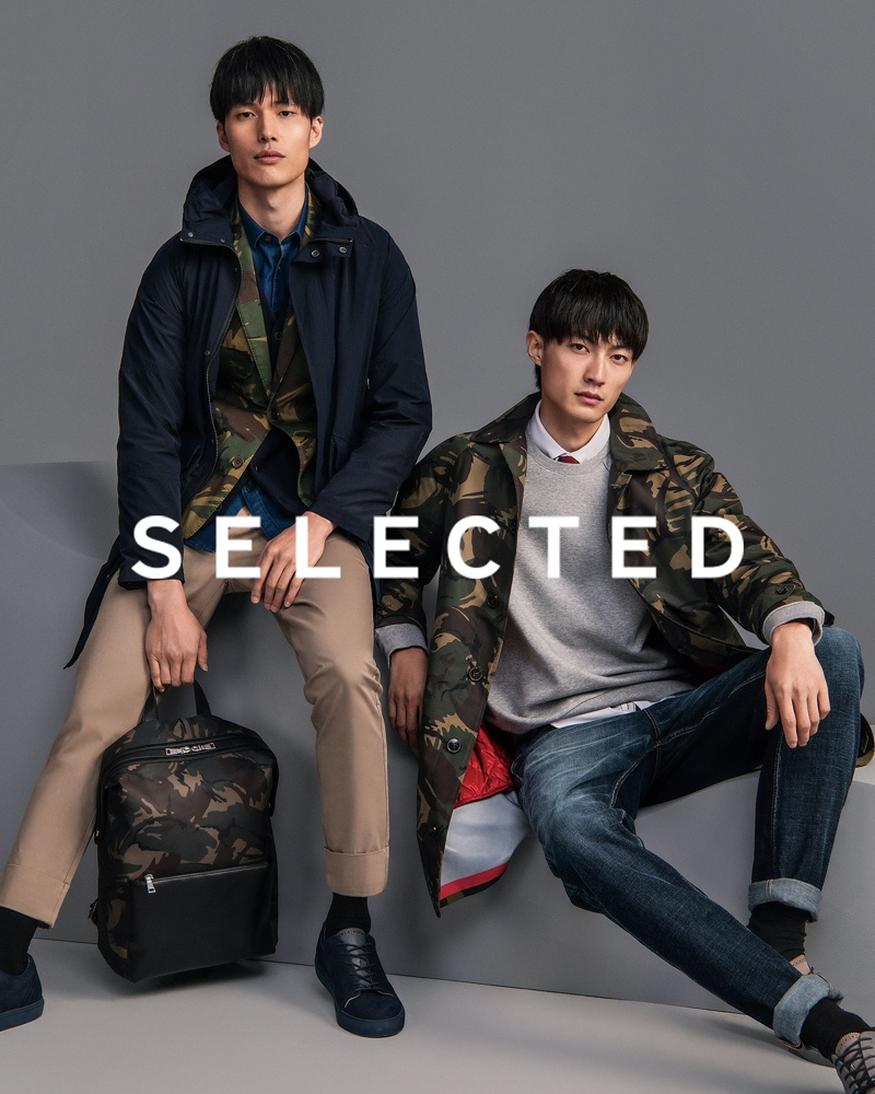 Models Dae Na and Ni Hao star in Selected China's fall-winter 2019 campaign.