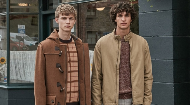 Models Max Barczak and Francisco Henriques star in Sfera's fall 2019 campaign.