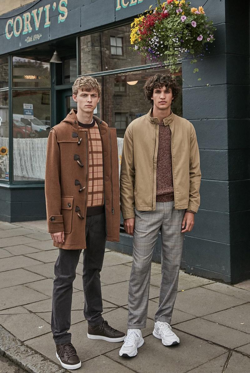 Models Max Barczak and Francisco Henriques star in Sfera's fall 2019 campaign.