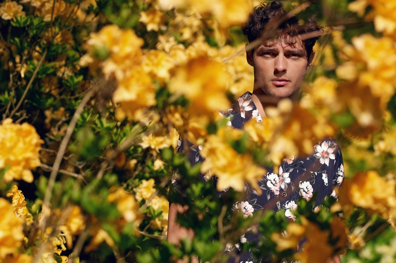Ted Baker enlists Hannes Gobeyn to star in a stylish fall outing.