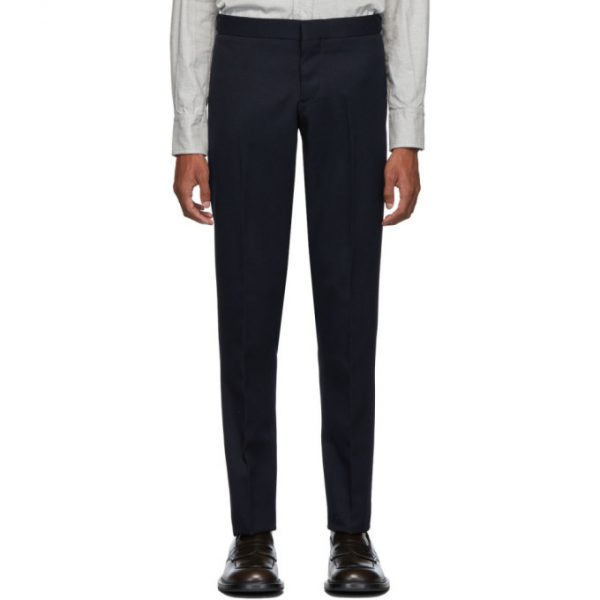 Thom Browne Navy Skinny Unconstructed Trousers