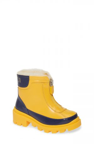 Toddler Gucci Cree Faux Fur Lined Boots, Size 10US / 26EU - Yellow
