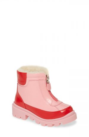 Toddler Gucci Cree Faux Fur Lined Boots, Size 9US / 25EU - Pink