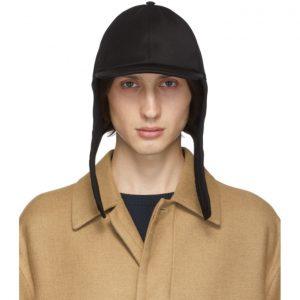 Valentino Black Valentino Garavani Wool Embroidered Cap