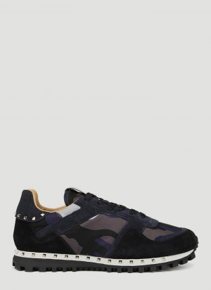 Valentino Camouflage Sneakers in Blue size EU - 41