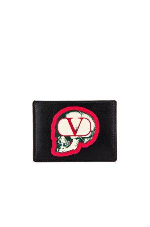 Valentino Card Holder in Black