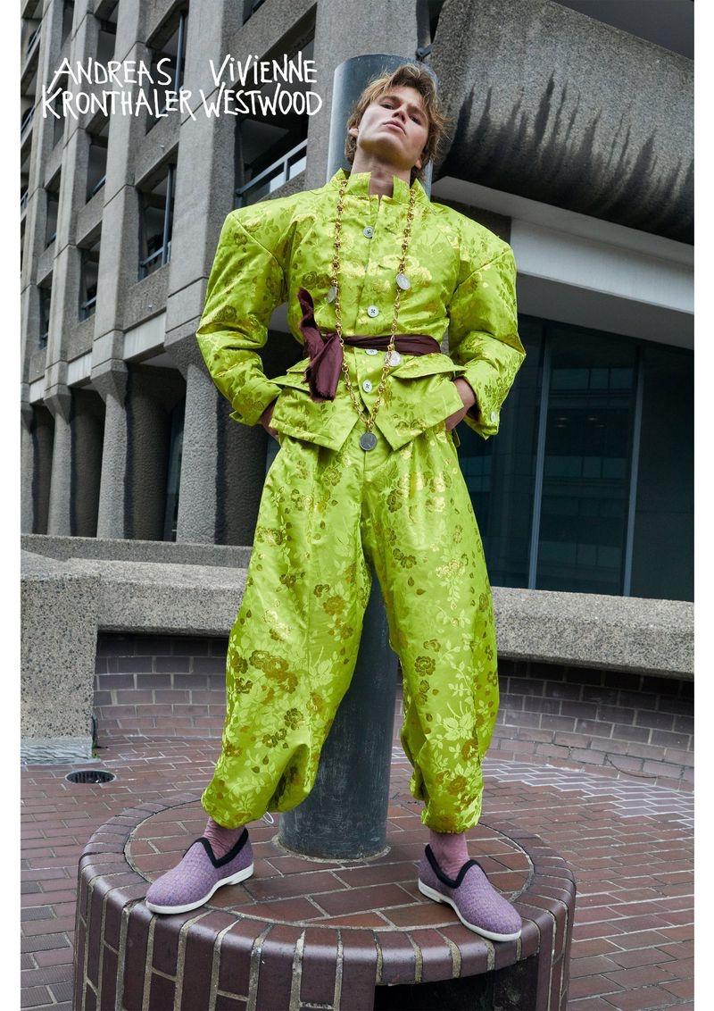 Jordan Barrett appears in Vivienne Westwood's fall-winter 2019 campaign.